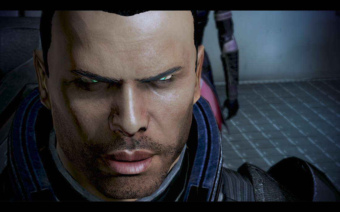 Mass Effect 3 - Commander Shepard up close.